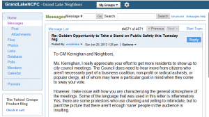 My response to Kernighan email.